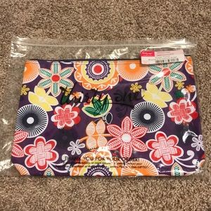 Thirty-One Large Zipper Pouch in Floral Fiesta